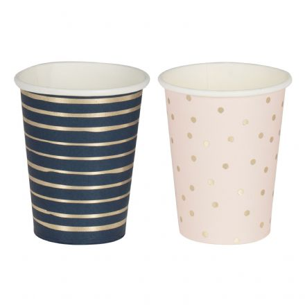 Pink, Blue & Gold Baby Shower / Gender Reveal Party Cups